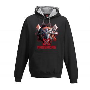 Mikina bez kapuce X-Massacre černá pánská S