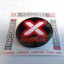 Placka X-Massacre logo černá