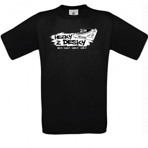 T-shirt Hezky z Desky, black colour, size L